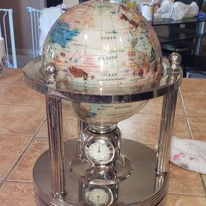 Small globe. But heavy.